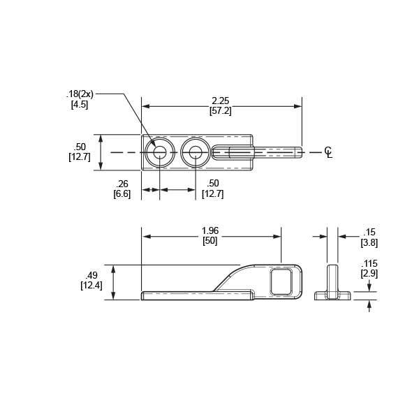 Senseon-10EL-Drawer-Catch-Cross-Section