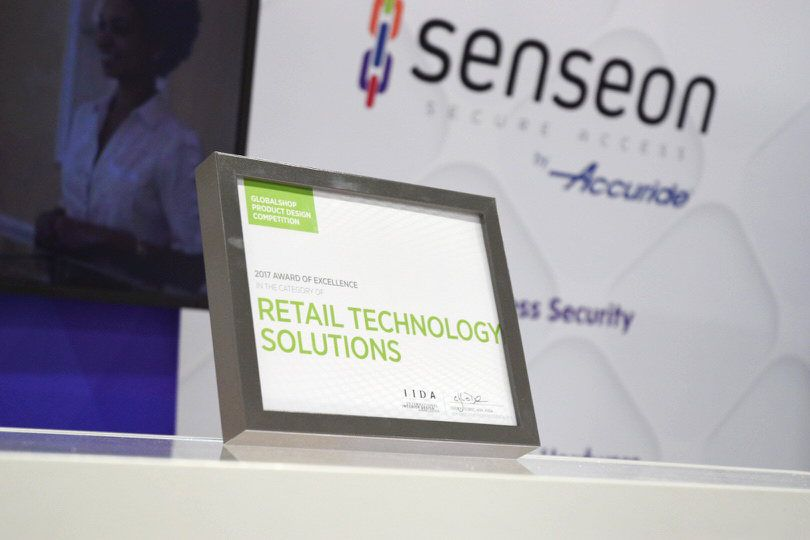 Senseon wins 2017 award of excellence in retail at Globalshop 2017