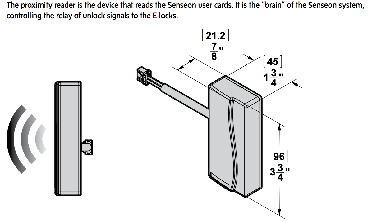 Senseon rfid reader is the brain of the system