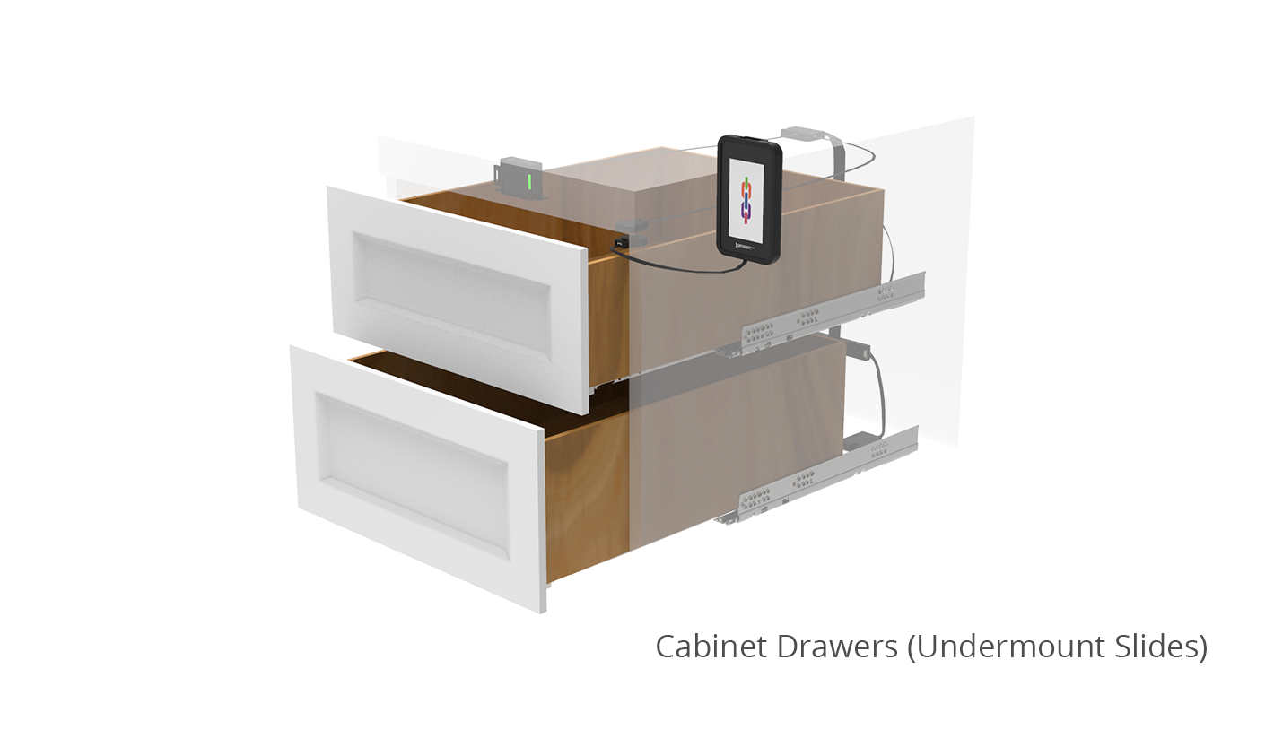 Undermount Cabinet Drawer Locks